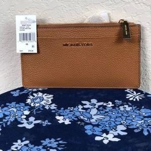 Michael Kors LG Slim Card Case Acorn Brown